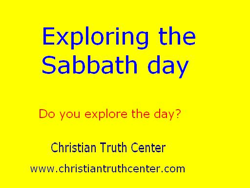 Exploring the Sabbath day