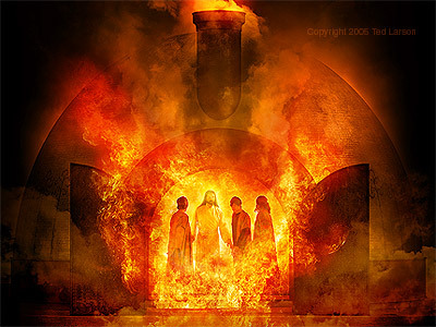 Rescue from fiery furnace. Dealing with life problems, trial and tribulation