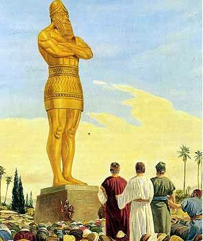 Golden image of Nebuchadnezzar