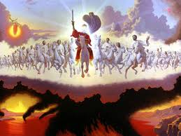 Vision of Great Tribulation period and Jesus coming with Saints