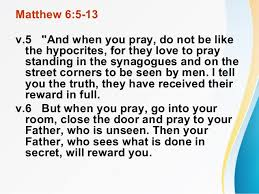 Hypocrites Pray Loud Standing in the Street and Synagogues (churches)