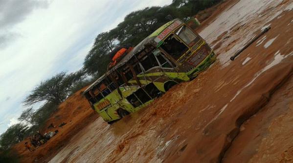 Mandera bus in flood waters