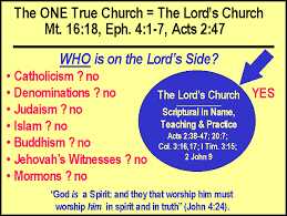Protestant Heresies Today 5: - The 'Church' or Denomination You Attend Does Not Matter. A Lie!