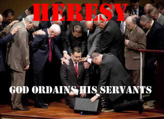 God ordains His Servants. They do not need human ordination to carry out the work they were created to do. Human being ordaining another human being is a n heresy - a protestant heresy today