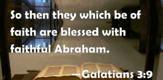 Tithe Like Abraham Not To Receive But to Thank. Those of faith are blessed with faithful Abraham