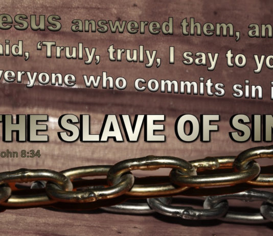 Everyone has Sinned but Not Everyone Lives in Sin (Slave of Sin)