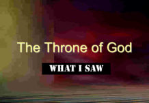 What I Saw at the Throne of My God