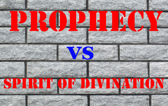 Difference Between Prophecy and Spirit of Divination